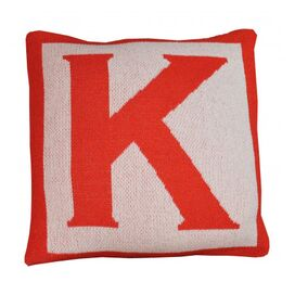 Letter Pillow Cover in Paprika