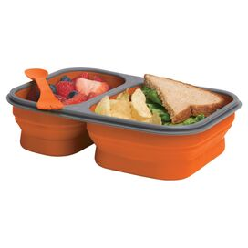 Large Collapsible Lunchbox in Orange