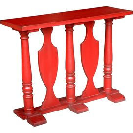 Cameo Console Table in Antique Red