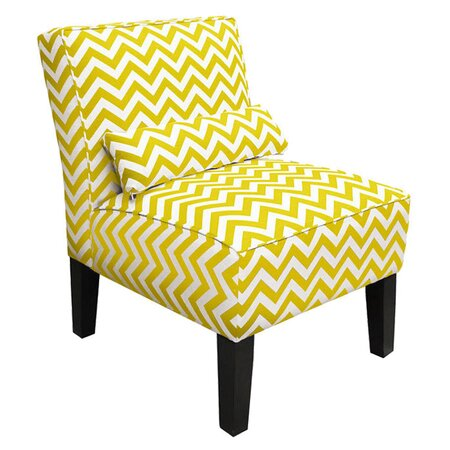 Zigzag Accent Chair in Yellow - Skyline on Wayfair