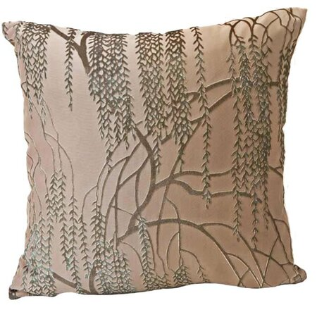 Large Willow Velvet Pillow in Beige - Kevin O'Brien Studios on Wayfair