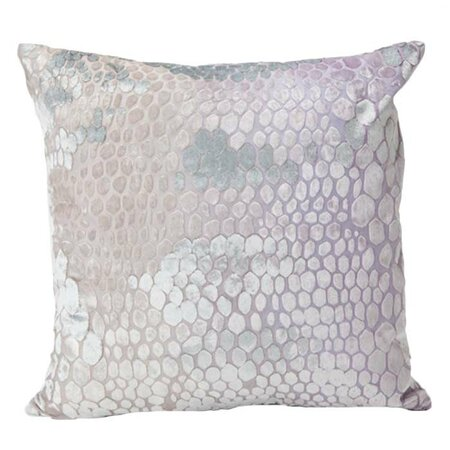 Large Snakeskin Velvet Pillow in Iris - Kevin O'Brien Studios on ...
