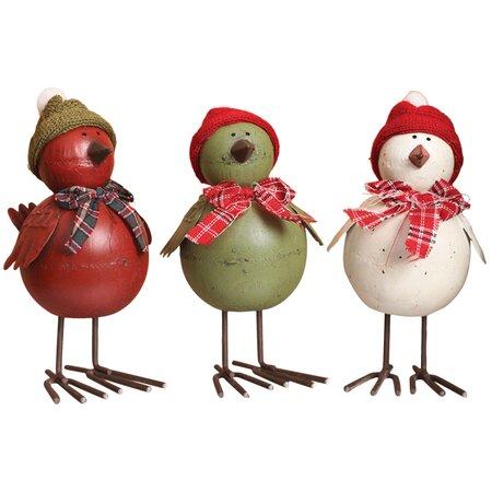 3 peças Hat Set Décor Pássaro