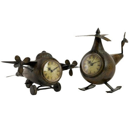 2 Piece Lindbergh Table Clock Set