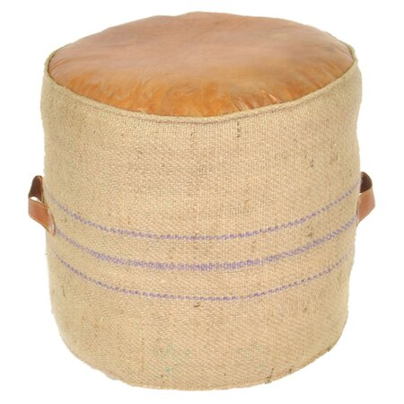 Mia Leather Pouf