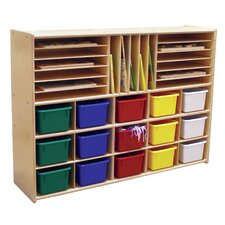 Ready-To-Assemble Multi-Storage with Trays Cubby
