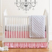 Parisian Pink Classic 4 Piece Crib Bedding Set