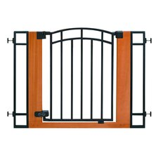 "Stylish & Secure 30"" Wood & Metal Walk Thru Gate"