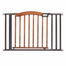Home Safe Pressure Mount Expansion Extra Wide Wood and Metal Gate