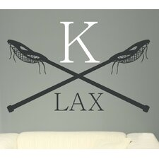 Personalized Lacrosse LAX Monogram Wall Decal
