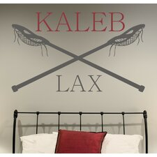 Personalized Lacrosse Name LAX  Wall Decal