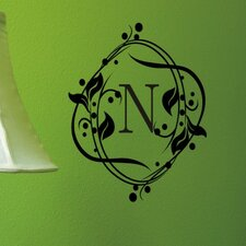 Personalized Berry Monogram Wall Decal