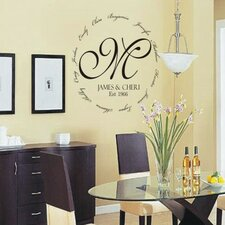 Personalized Family Encircling Love Monogram Wall Decal