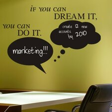 Dream it, Do it Bubbles Chalkboard Wall Decal