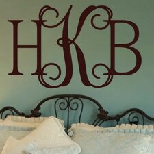 Personalized Hip Chick Monogram Wall Decal