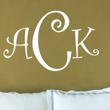 Curly Font Monogram Wall Decal