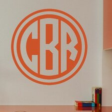 Personalized Double Circle Monogram Wall Decal
