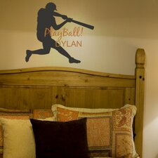 Play Ball Personalized Wall Decal