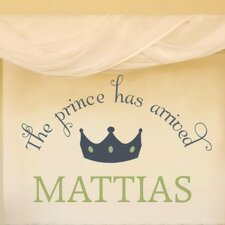Personalized Welcome Prince Wall Decal
