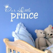 Our Little Prince Wall Decal