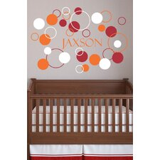 Personalized Boy's Dots and Circles Wall Decal