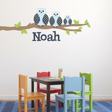 Owl Family Boy Wall Decal