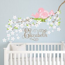 Baby Bird Branch Wall Decal
