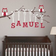 Boy Owl Branch Wall Decal