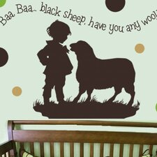 Baa Baa Black Sheep - Boy Wall Decal