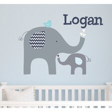 Elephant Love Wall Decal