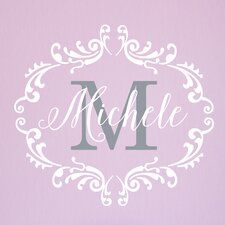Princess Frame with Initial Personalized Wall Decal