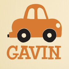 Little Car Personalized Wall Decal