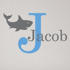 Shark Initial Personalized Wall Decal