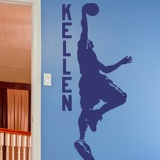 Dunking Basketball Player Personalized Wall Decal