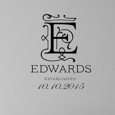 Royal Monogram Personalized Wall Decal