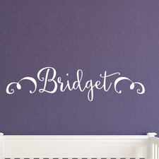 Bridget Monogram Personalized Wall Decal
