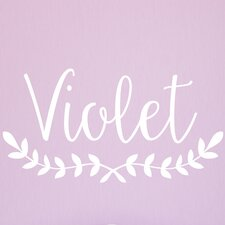 Violet  Personalized Name Wall Decal