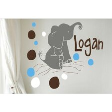 Personalized Elephants Wall Decal
