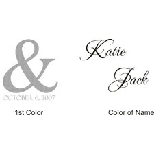 Personalized Katie and Jack Monogram Wall Decal