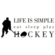 Life is Simple-Hockey Wall Decal