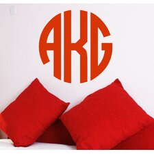 Personalized Circle Monogram Wall Decal