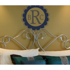 Personalized Scalloped Edge Monogram Wall Decal