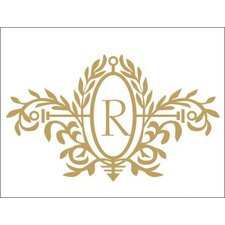 Personalized Royal Elegance Monogram Wall Decal