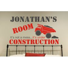 Personalized Under Construction Wall Decal