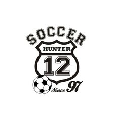 Personalized Soccer Crest Wall Decal