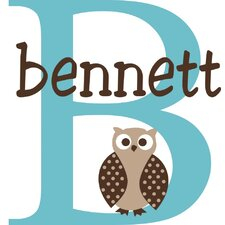 Personalized Bennett's Owl Wall Decal