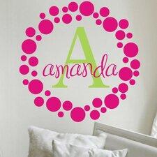 Personalized Amanda's Dots Wall Decal