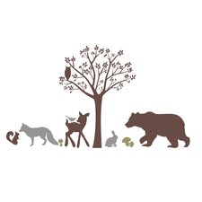 Forest Critters Wall Decal