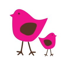 Cutie Birds Wall Decal (Set of 2)