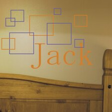 Personalized Jack's Squares Wall Decal